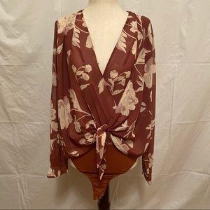 Capulet Floral Blouse Bodysuit